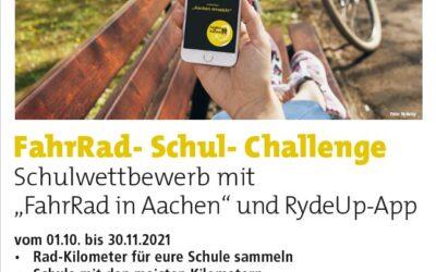 """Schulwettbewerb mit """"FahrRad in Aachen"""" und RydeUp-App"""